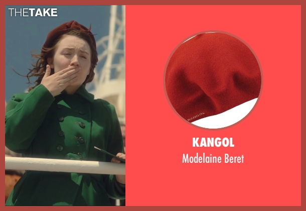 Kangol red beret from Brooklyn seen with Saoirse Ronan (Eilis)