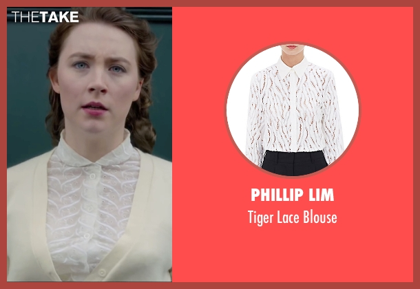 Phillip Lim white blouse from Brooklyn seen with Saoirse Ronan (Eilis)