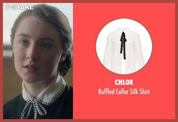 Chloe white shirt from Brooklyn seen with Saoirse Ronan (Eilis)