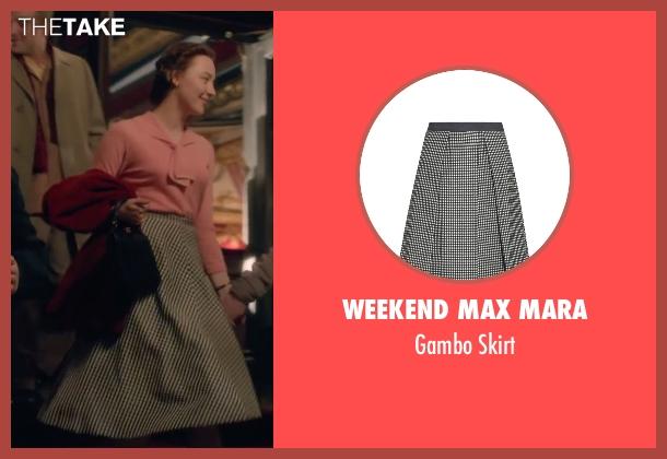 Weekend Max Mara white skirt from Brooklyn seen with Saoirse Ronan (Eilis)
