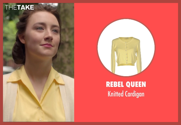 Rebel Queen yellow cardigan from Brooklyn seen with Saoirse Ronan (Eilis)