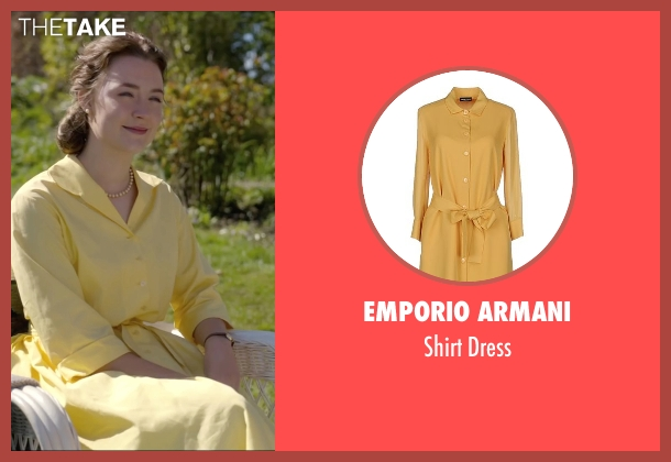 Emporio Armani yellow dress from Brooklyn seen with Saoirse Ronan (Eilis)
