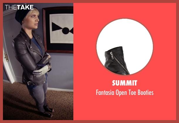 Summit black booties from Pretty Little Liars seen with Sara Harvey (Dre Davis)