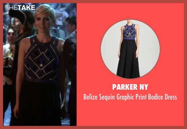 Parker NY black dress from Pretty Little Liars seen with Sara Harvey (Dre Davis)