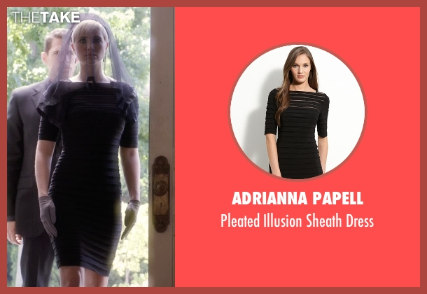 Adrianna Papell black dress from Pretty Little Liars seen with Sara Harvey (Dre Davis)