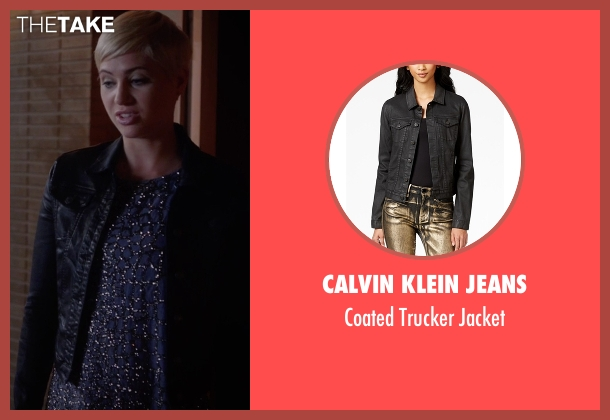 Calvin Klein Jeans black jacket from Pretty Little Liars seen with Sara Harvey (Dre Davis)