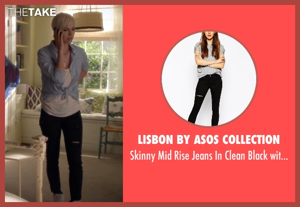 Lisbon by ASOS Collection black rip from Pretty Little Liars seen with Sara Harvey (Dre Davis)