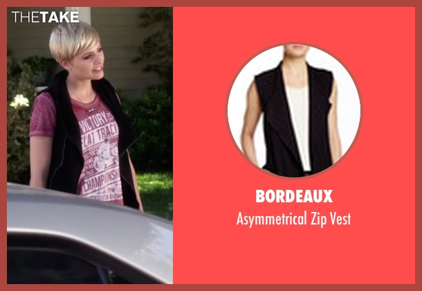 Bordeaux black vest from Pretty Little Liars seen with Sara Harvey (Dre Davis)