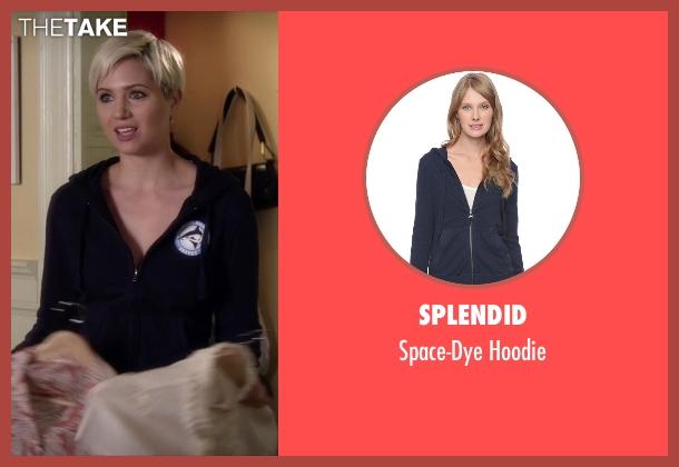 Splendid blue hoodie from Pretty Little Liars seen with Sara Harvey (Dre Davis)
