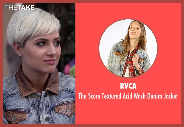 RVCA blue jacket from Pretty Little Liars seen with Sara Harvey (Dre Davis)