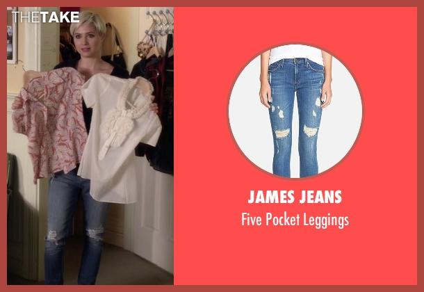 James Jeans blue leggings from Pretty Little Liars seen with Sara Harvey (Dre Davis)