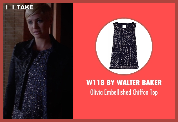 W118 By Walter Baker blue top from Pretty Little Liars seen with Sara Harvey (Dre Davis)