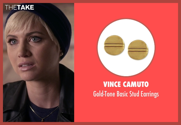 Vince Camuto gold earrings from Pretty Little Liars seen with Sara Harvey (Dre Davis)