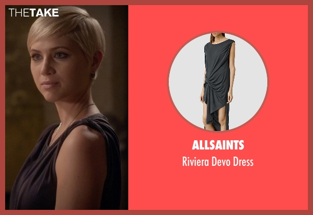 AllSaints gray dress from Pretty Little Liars seen with Sara Harvey (Dre Davis)