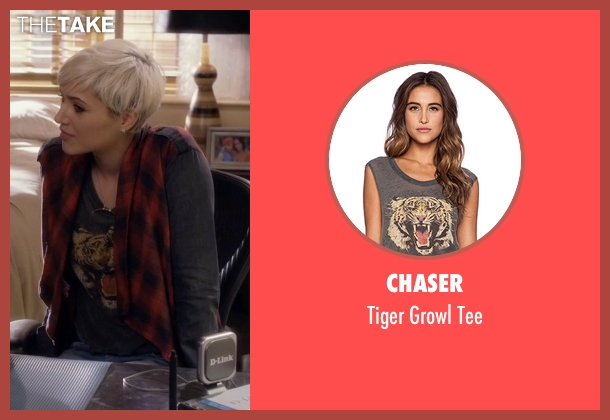 Chaser gray tee from Pretty Little Liars seen with Sara Harvey (Dre Davis)