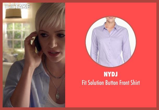 NYDJ purple shirt from Pretty Little Liars seen with Sara Harvey (Dre Davis)