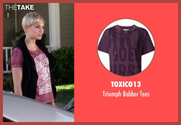 Toxico13 purple tees from Pretty Little Liars seen with Sara Harvey (Dre Davis)