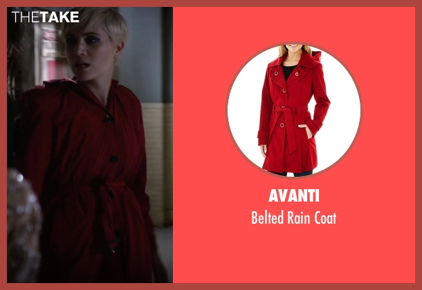 Avanti red coat from Pretty Little Liars seen with Sara Harvey (Dre Davis)