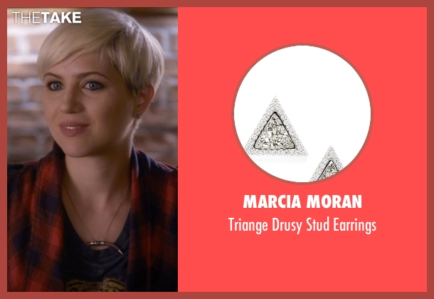 Marcia Moran silver earrings from Pretty Little Liars seen with Sara Harvey (Dre Davis)