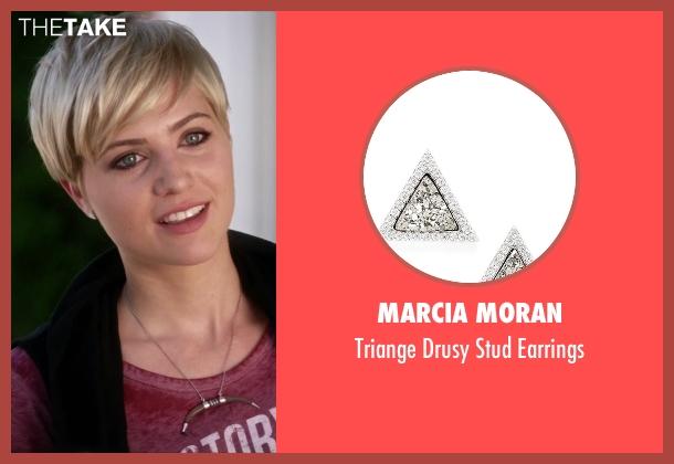 Marcia Moran silver earrings from Pretty Little Liars seen with Sara Harvey (Dre Davis)