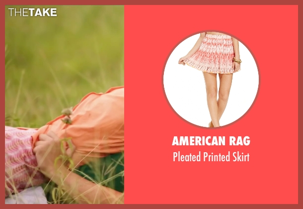 American Rag pink skirt from My All American seen with Sarah Bolger (Linda Wheeler)