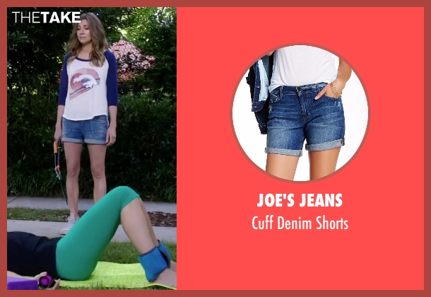 Joe's Jeans blue shorts from Mother's Day seen with Sarah Chalke (Gabi)