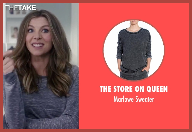 The Store On Queen gray sweater from Mother's Day seen with Sarah Chalke (Gabi)