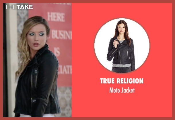 True Religion black jacket from Scout's Guide to the Zombie Apocalypse seen with Sarah Dumont (Denise)
