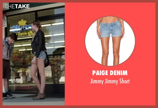 Paige Denim blue short from Scout's Guide to the Zombie Apocalypse seen with Sarah Dumont (Denise)