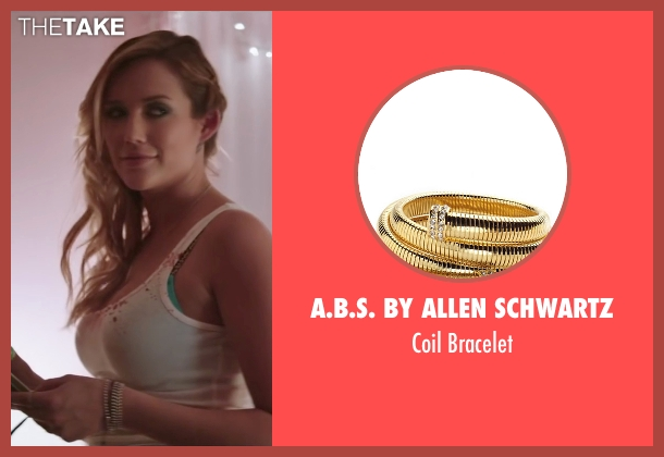 A.B.S. by Allen Schwartz gold bracelet from Scout's Guide to the Zombie Apocalypse seen with Sarah Dumont (Denise)
