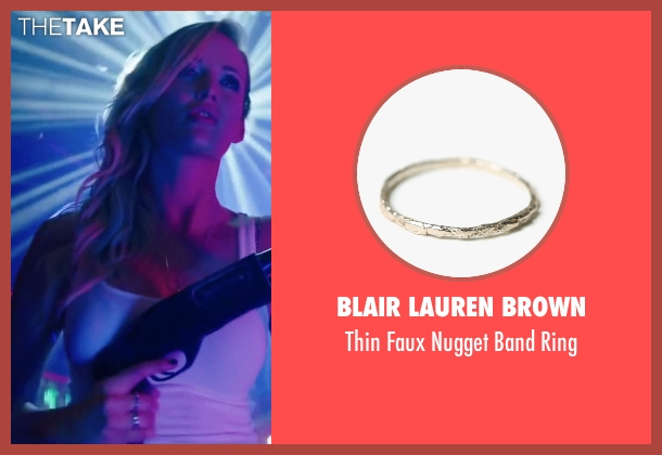 Blair Lauren Brown silver ring from Scout's Guide to the Zombie Apocalypse seen with Sarah Dumont (Denise)