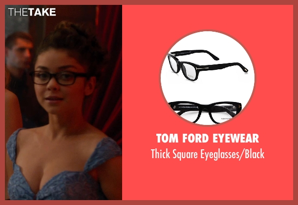 Tom Ford Eyewear black eyeglasses/black from Vampire Academy seen with Sarah Hyland (Caleb Prior )