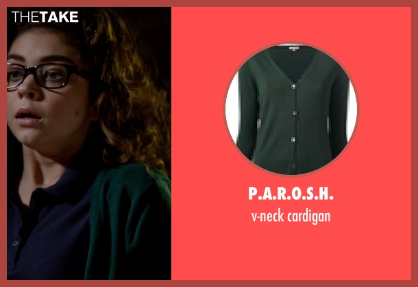P.A.R.O.S.H. green cardigan from Vampire Academy seen with Sarah Hyland (Caleb Prior )