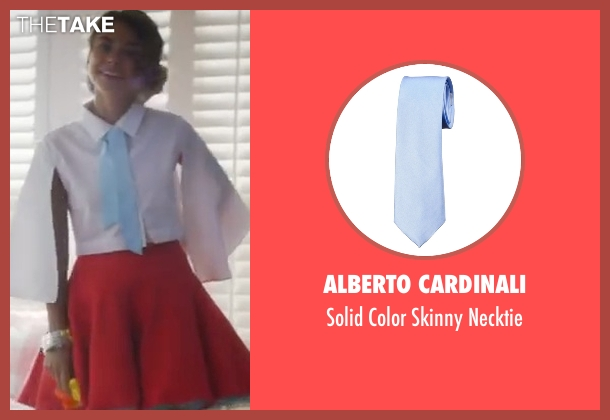 Alberto Cardinali  blue necktie from XOXO seen with Sarah Hyland (Krystal)