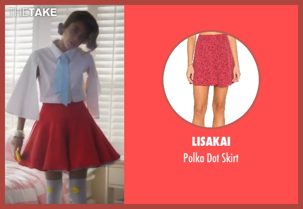 Lisakai red skirt from XOXO seen with Sarah Hyland (Krystal)