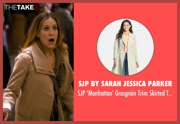 SJP by Sarah Jessica Parker beige trench from New Year's Eve seen with Sarah Jessica Parker (Kim)