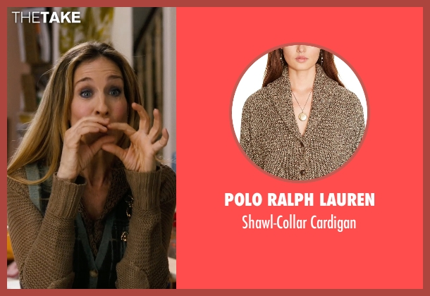 Polo Ralph Lauren brown cardigan from New Year's Eve seen with Sarah Jessica Parker (Kim)