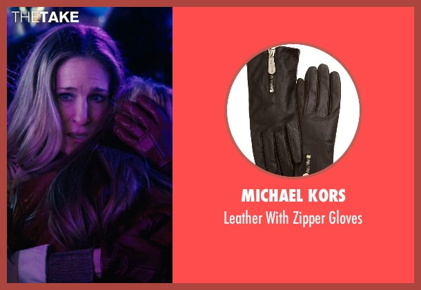 Michael Kors brown gloves from New Year's Eve seen with Sarah Jessica Parker (Kim)
