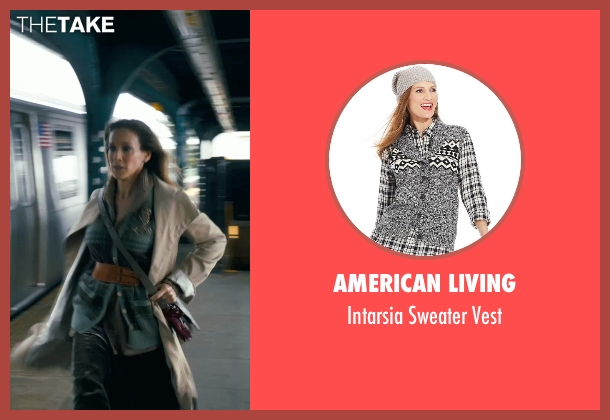 American Living gray vest from New Year's Eve seen with Sarah Jessica Parker (Kim)