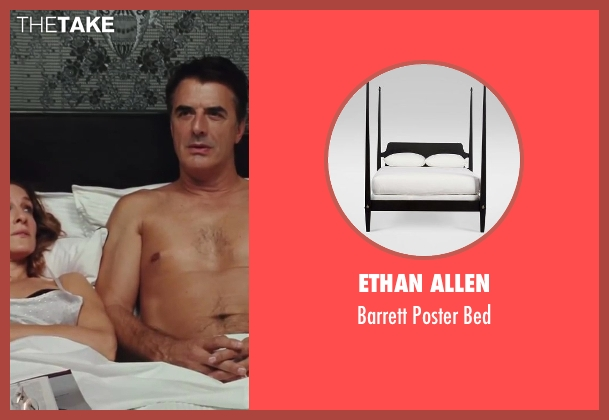 Ethan Allen bed from Sex and the City 2 seen with Sarah Jessica Parker (Carrie Bradshaw)