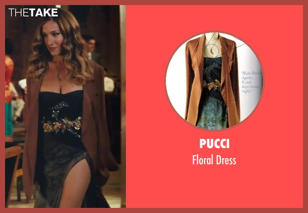 Pucci black dress from Sex and the City 2 seen with Sarah Jessica Parker (Carrie Bradshaw)