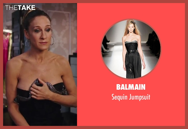 Balmain black jumpsuit from Sex and the City 2 seen with Sarah Jessica Parker (Carrie Bradshaw)