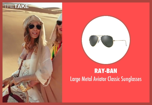 Ray-Ban black sunglasses from Sex and the City 2 seen with Sarah Jessica Parker (Carrie Bradshaw)