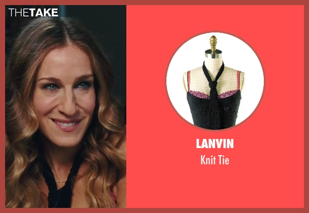 Lanvin black tie from Sex and the City 2 seen with Sarah Jessica Parker (Carrie Bradshaw)