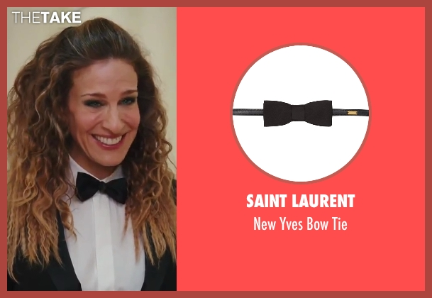 Saint Laurent black tie from Sex and the City 2 seen with Sarah Jessica Parker (Carrie Bradshaw)