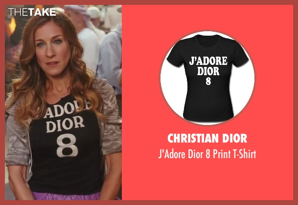 Christian Dior black t-shirt from Sex and the City 2 seen with Sarah Jessica Parker (Carrie Bradshaw)