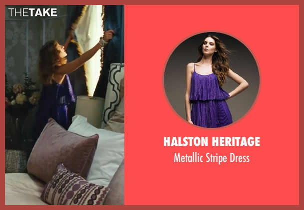 Halston Heritage blue dress from Sex and the City 2 seen with Sarah Jessica Parker (Carrie Bradshaw)