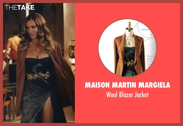 Maison Martin Margiela brown jacket from Sex and the City 2 seen with Sarah Jessica Parker (Carrie Bradshaw)