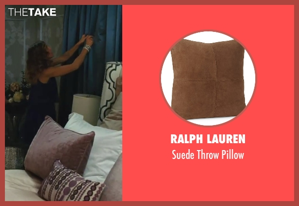 Ralph Lauren brown pillow from Sex and the City 2 seen with Sarah Jessica Parker (Carrie Bradshaw)