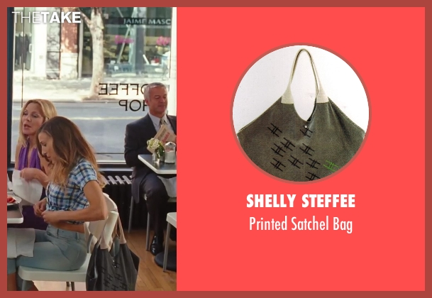 Shelly Steffee gray bag from Sex and the City 2 seen with Sarah Jessica Parker (Carrie Bradshaw)